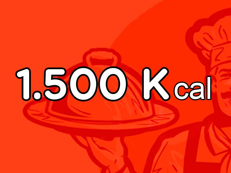 Menú de 1.500 Kcal