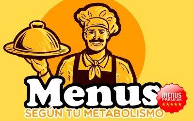 Menús semanales según tu metabolismo basal.